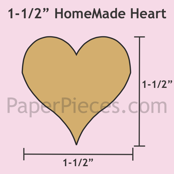 Tula Pink HomeMade Heart Paper Pieces Small 50 Piece Pack