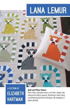 Elizabeth Hartman Lana Lemur Quilt Pattern