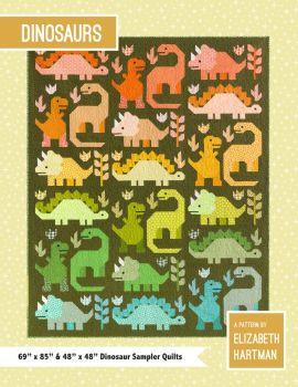 Elizabeth Hartman Dinosaurs Quilt Pattern