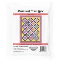 Mums of True Love Chrysanthemum Heart Quilt Pattern & Complete EPP English Paper Piecing Paper Piece Pack