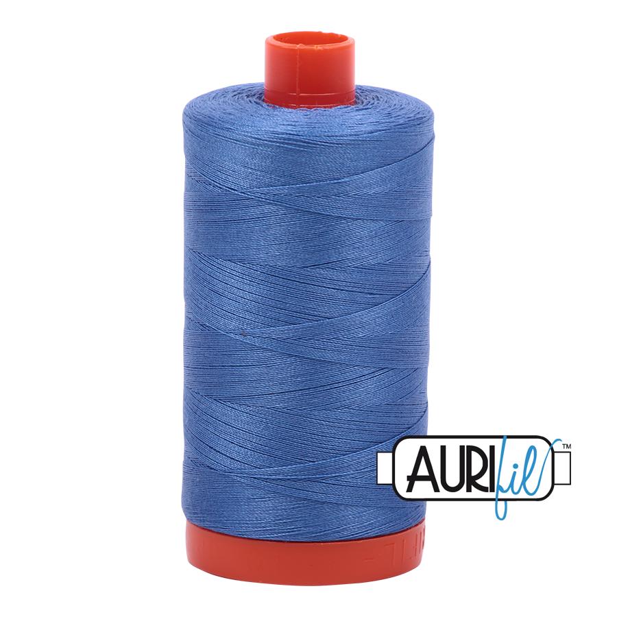 Aurifil 50wt Cotton Thread Large Spool 1300m 1128 Light Blue Velvet