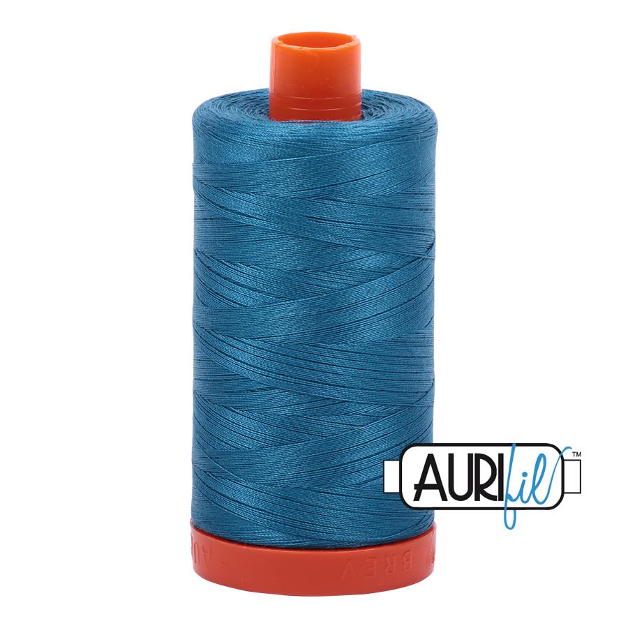 Aurifil 50wt Cotton Thread Large Spool 1300m 1125 Medium Teal