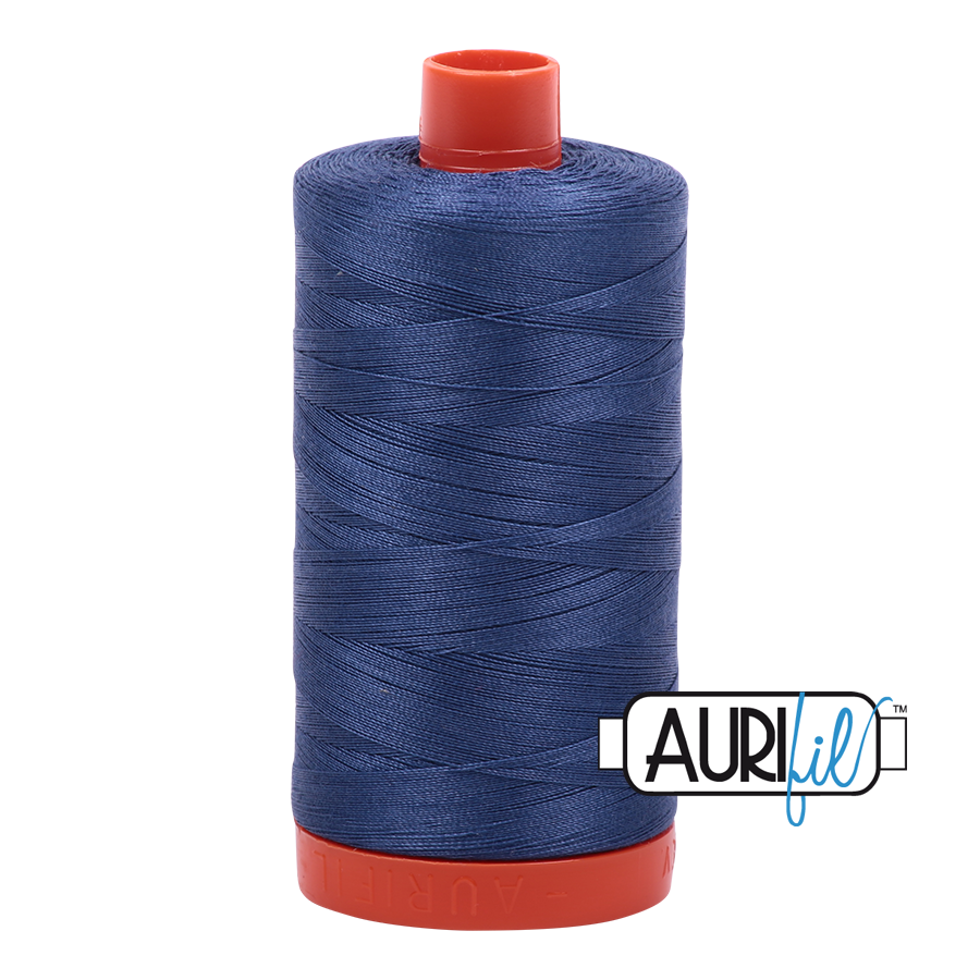 Aurifil 50wt Cotton Thread Large Spool 1300m 2775 Steel Blue