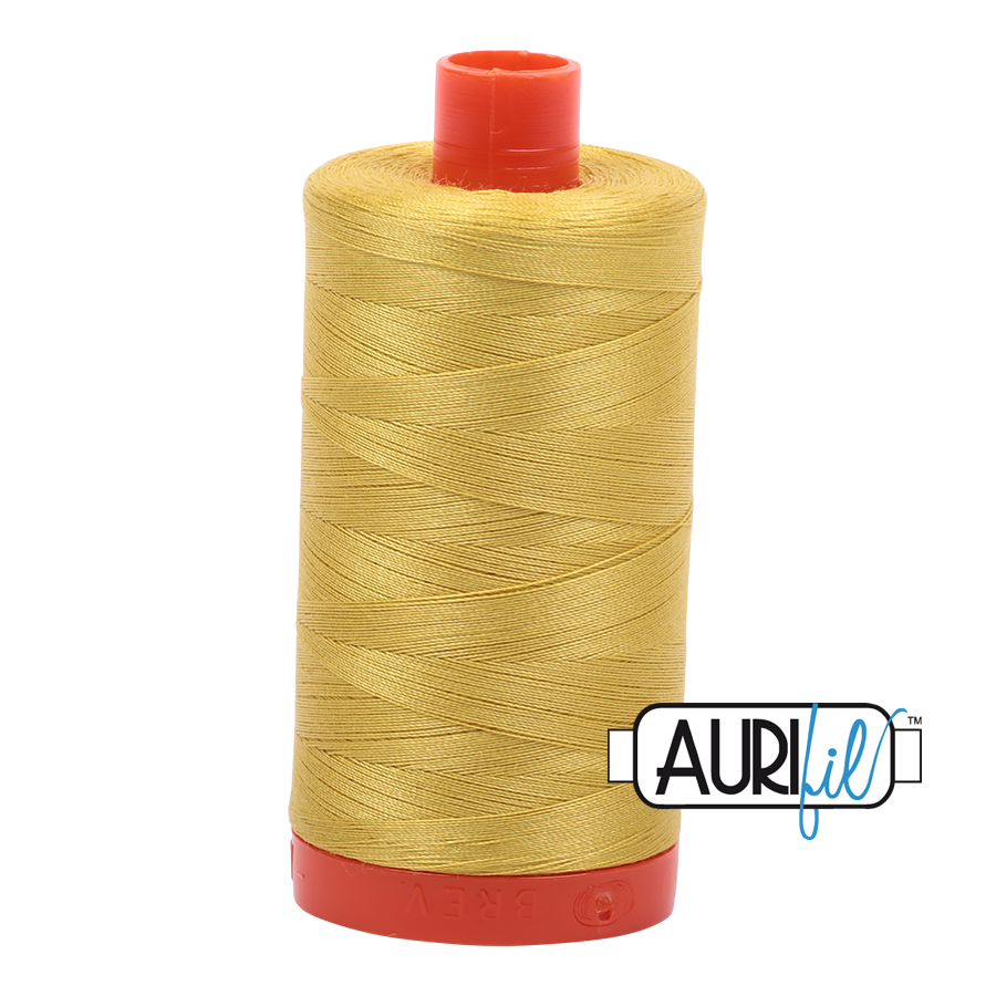 Aurifil 50wt Cotton Thread Large Spool 1300m 5015 Gold Yellow