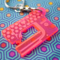 Tula Pink HomeMade Bernina Sewing Machine Acrylic Charm Fob
