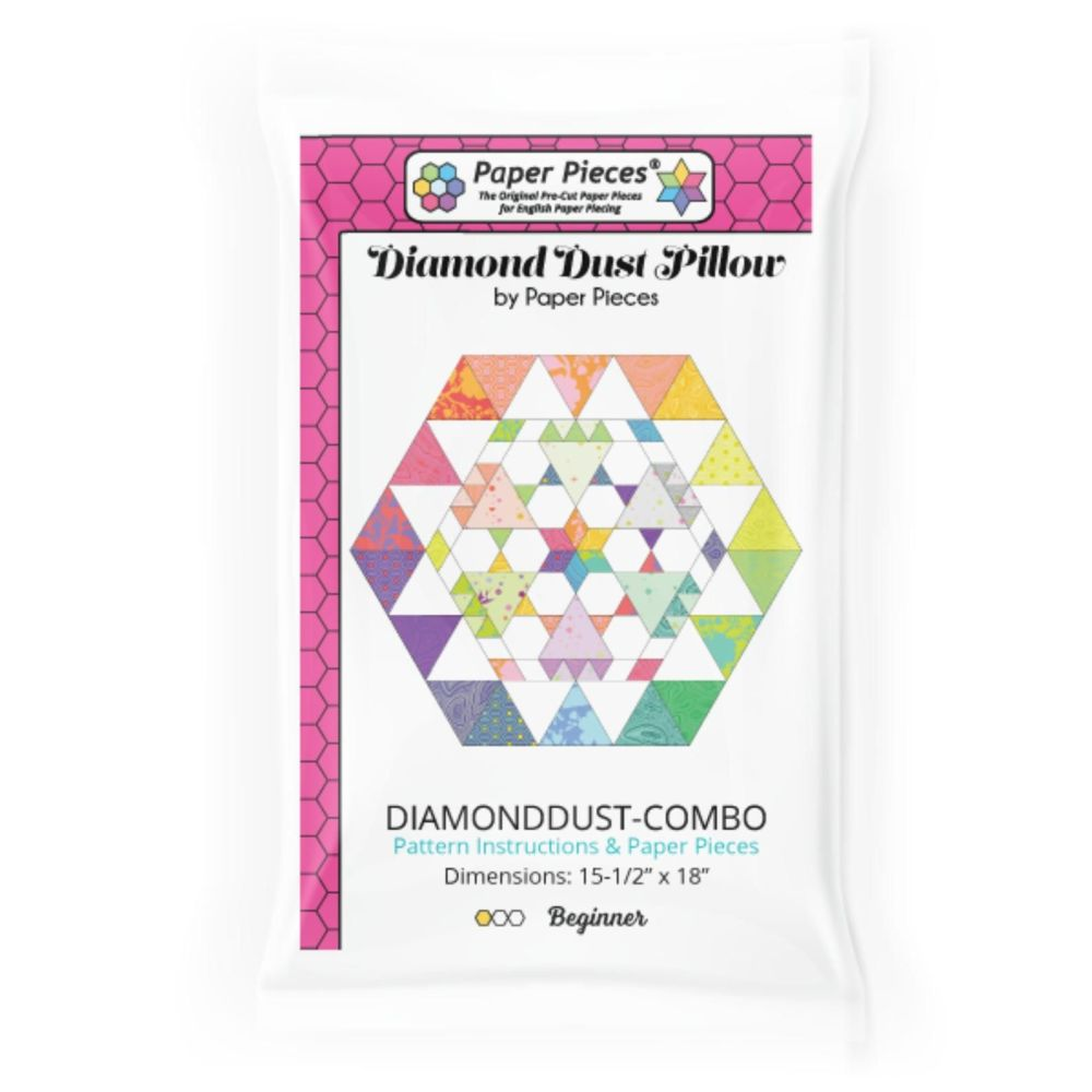 Diamond Dust Pillow Quilt Pattern & Complete EPP English Paper Piecing Pape