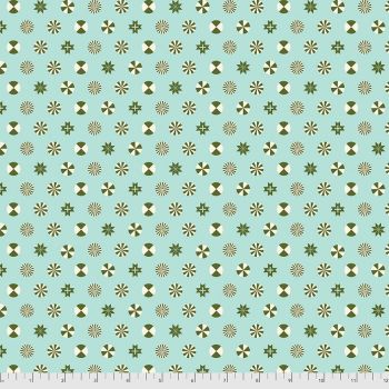 PRE-ORDER Tula Pink Holiday Homies Peppermint Stars Pinefresh Brushed Cotton Flannel Fabric