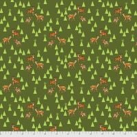 PRE-ORDER Tula Pink Holiday Homies Road Trip Pine Fresh Brushed Cotton Flannel Fabric