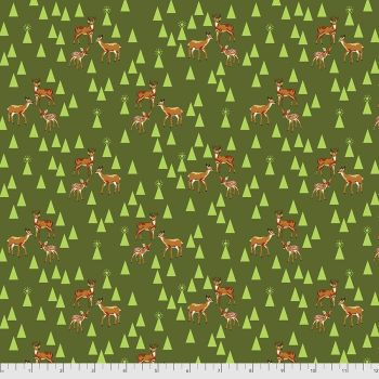 Tula Pink Holiday Homies Road Trip Pine Fresh Brushed Cotton Flannel Fabric