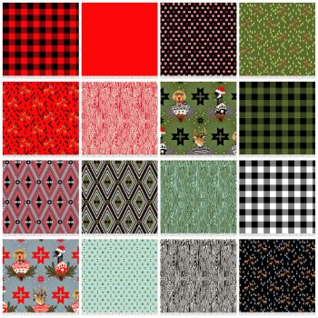 PRE-ORDER Tula Pink Holiday Homies 19 Fat Quarter Bundle Brushed Cotton Flannel Fabric Cloth Stack Full Collection