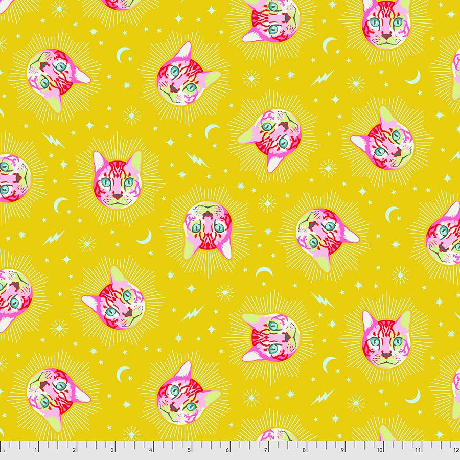 PRE-ORDER Tula Pink Curiouser and Curiouser Cheshire Cat Wonder Cotton Fabr