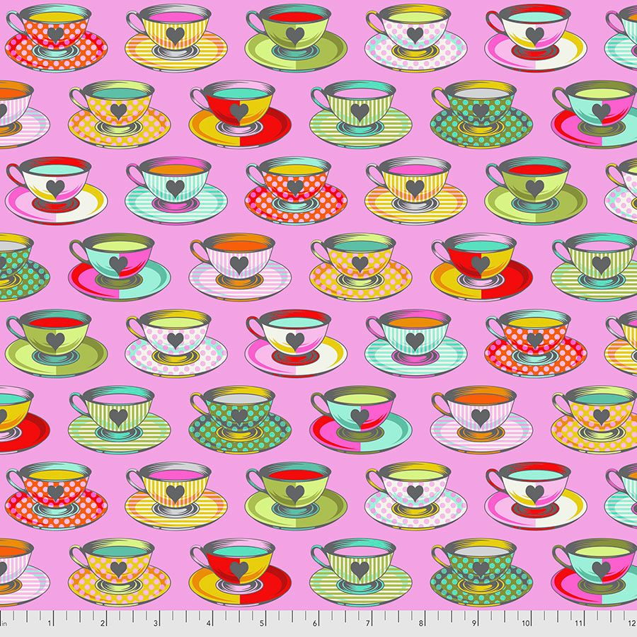 PRE-ORDER Tula Pink Curiouser and Curiouser Tea Time Wonder Cotton Fabric