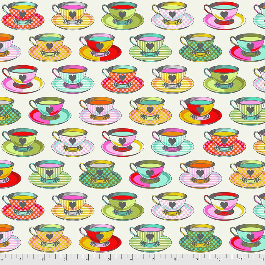 PRE-ORDER Tula Pink Curiouser and Curiouser Tea Time Sugar Cotton Fabric