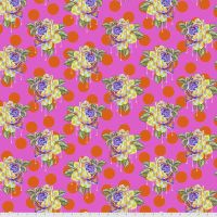 PRE-ORDER Tula Pink Curiouser and Curiouser Painted Roses Daydream Cotton Fabric