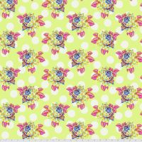 Tula Pink Curiouser and Curiouser Painted Roses Sugar Cotton Fabric