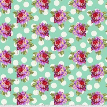 PRE-ORDER Tula Pink Curiouser and Curiouser Painted Roses Wonder Cotton Fabric
