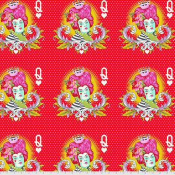PRE-ORDER Tula Pink Curiouser and Curiouser The Red Queen Wonder Cotton Fabric