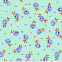 "PRE-ORDER Tula Pink Curiouser and Curiouser Big Buds Daydream Quilt Backing 108"" 2.70m Extra Wide Cotton Fabric"