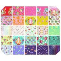PRE-ORDER Tula Pink Curiouser and Curiouser Full Collection Half Yard Bundle Cotton Fabric Cloth Stack