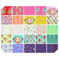 Tula Pink Curiouser and Curiouser Full Collection Fat Quarter Bundle Cotton Fabric Cloth Stack