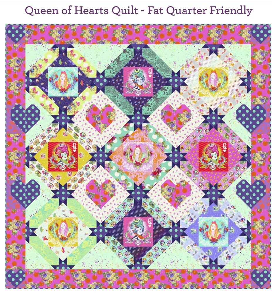 PRE-ORDER Tula Pink Curiouser and Curiouser Queen of Hearts Quilt Fabric Ki