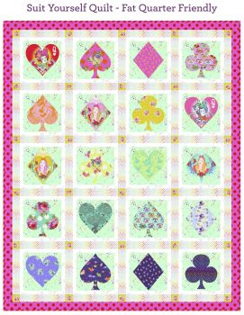 PRE-ORDER Tula Pink Curiouser and Curiouser Suit Yourself Quilt Fabric Kit - Pattern Available online from FreeSpirit Fabrics