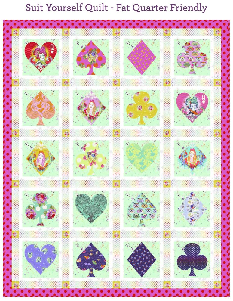 PRE-ORDER Tula Pink Curiouser and Curiouser Suit Yourself Quilt Fabric Kit