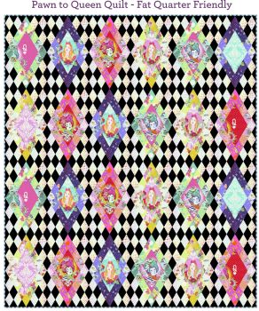 PRE-ORDER Tula Pink Curiouser and Curiouser Pawn to Queen Quilt Fabric Kit - Pattern Available online from FreeSpirit Fabrics