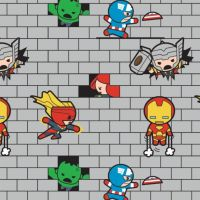 Marvel Avengers Superhero Kawaii Superheroes Bricks Character Cotton Fabric