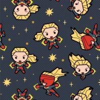 Marvel Avengers Captain Marvel Superhero Kawaii Superheroes Character Cotton Fabric