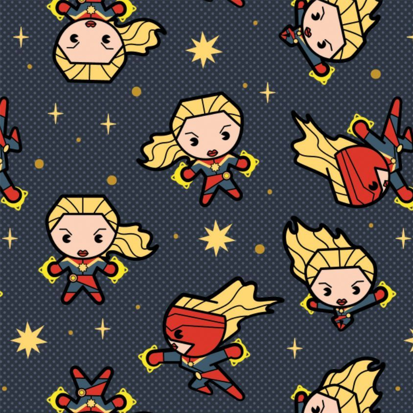 Marvel Avengers Captain Marvel Superhero Kawaii Superheroes Character Cotto
