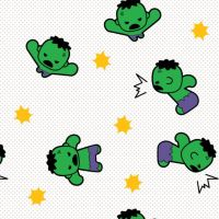 Marvel Avengers Incredible Hulk Superhero Kawaii Superheroes Character Cotton Fabric