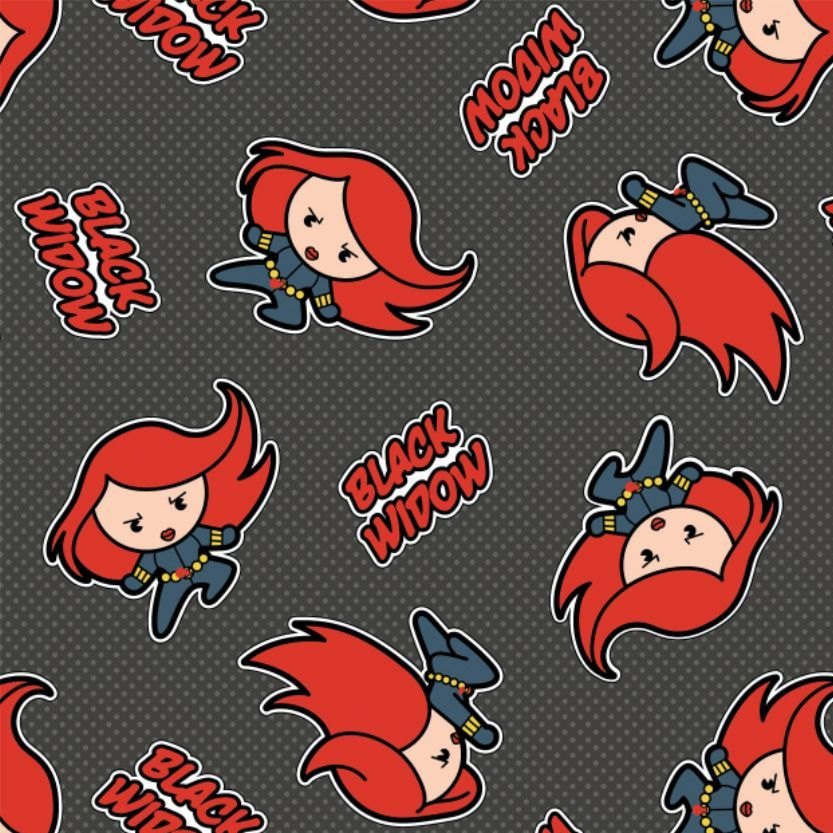 Marvel Avengers Black Widow Superhero Kawaii Superheroes Character Cotton F