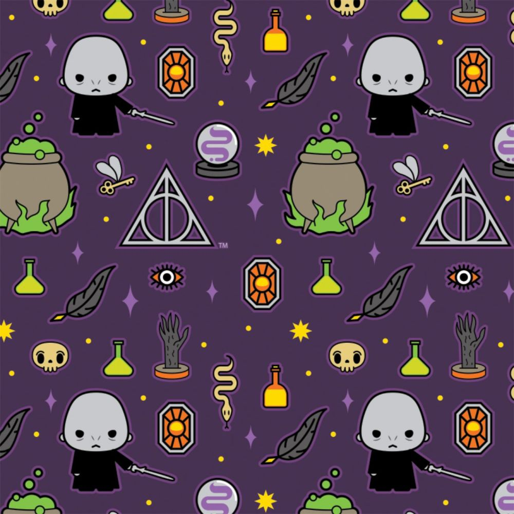 Harry Potter Kawaii Voldemort Deathly Hallows Dark Magic Icons Purple Hogwa