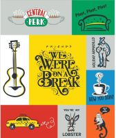 """Friends 25th Anniversary We Were On a Break Panel 36"""" TV Television Show Cotton Fabric"""