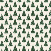 Christmas Traditions Christmas Trees Cream Festive Holiday Winter Cotton Fabric