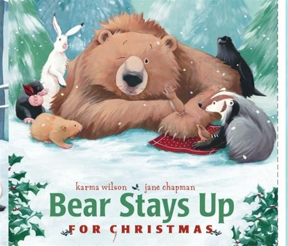 Bear Stays Up For Christmas DIY Book Panel Festive Project Cotton Fabric by