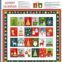 Joy Advent Calendar Christmas DIY Panel Merry Christmas Festive Project Cotton Fabric by Makower per panel