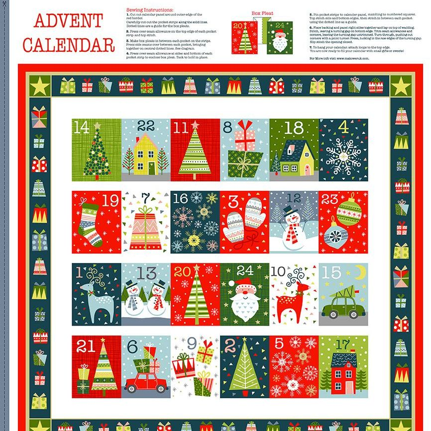 Joy Advent Calendar Christmas DIY Panel Merry Christmas Festive Project Cot