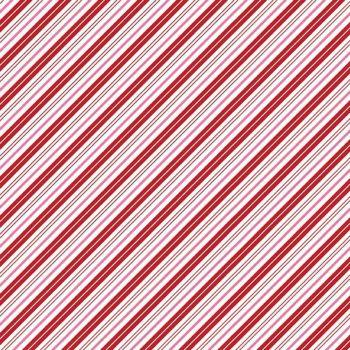 Santa Claus Lane Candy Stripes Red Bias Stripe Diagonal Christmas Festive Holiday Winter Cotton Fabric