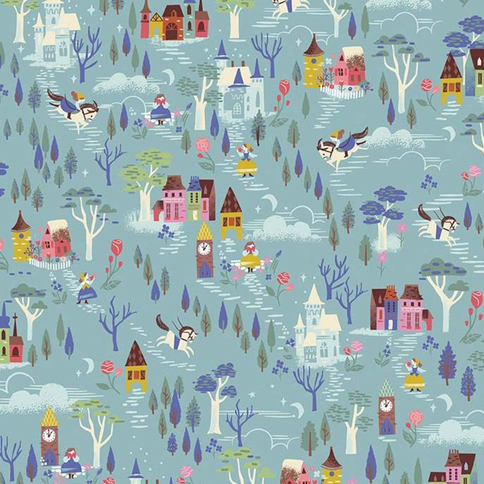 Beauty and the Beast French Countryside Blue Characters Belle Scenic Jill H