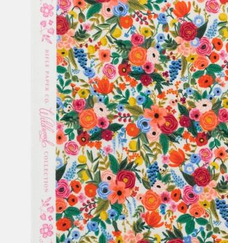 Rifle Paper Co. Wildwood Petite Garden Party Cream Rose Floral Botanical Cotton Fabric