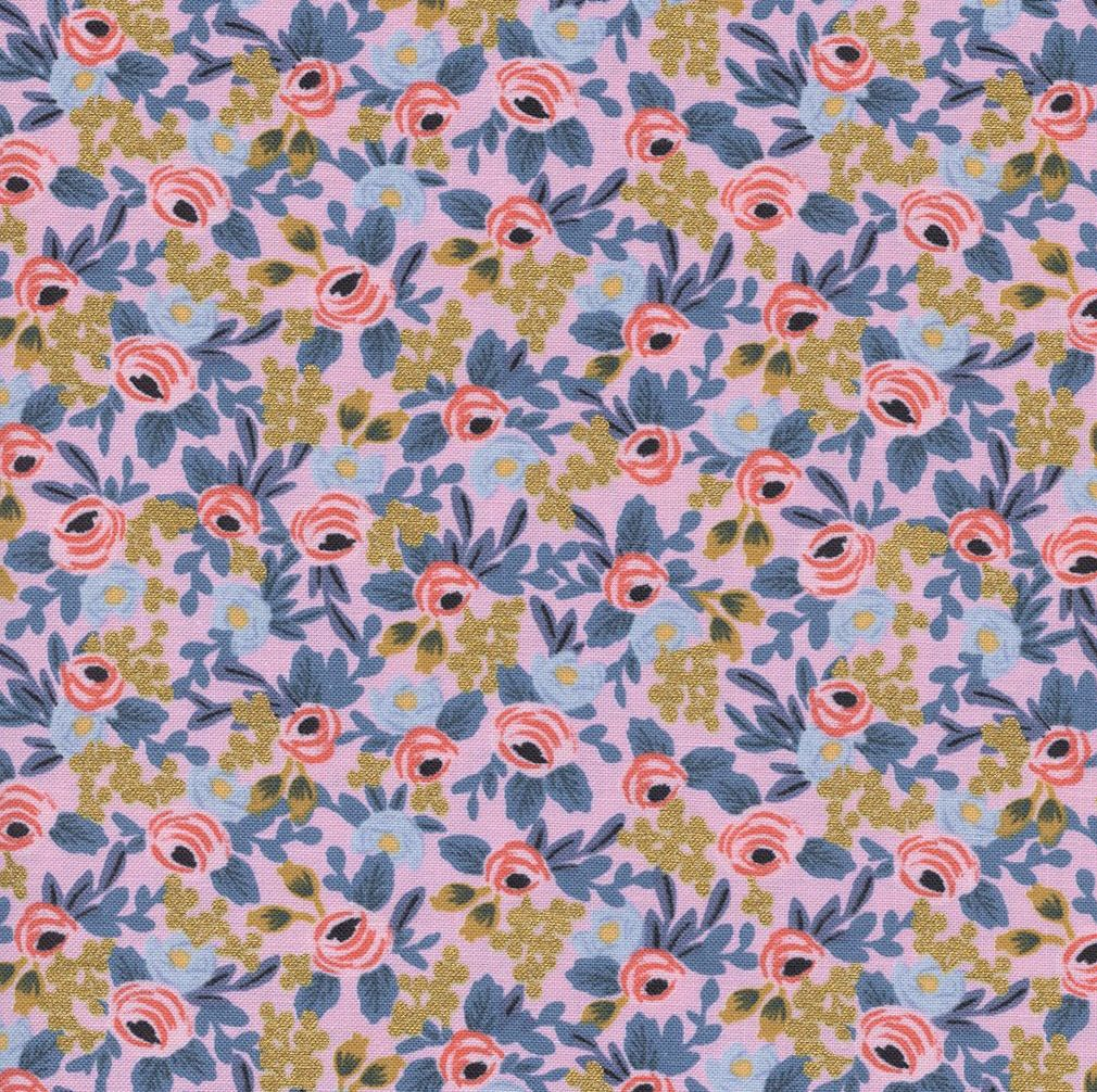Rifle Paper Co Menagerie Rosa Violet Metallic Gold Floral Flower Botanical