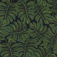 Rifle Paper Co Menagerie Monstera Botanical Leaves Leaf Rayon Cotton Lawn Fabric