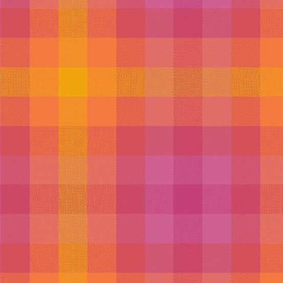 Alison Glass Kaleidoscope Stripes and Plaids Sunrise Plaid Shot Woven WV954
