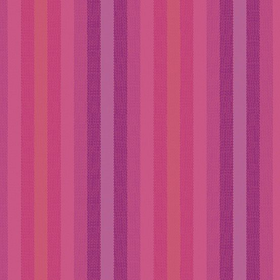 Alison Glass Kaleidoscope Stripes and Plaids Magenta Stripe Shot Woven WV95
