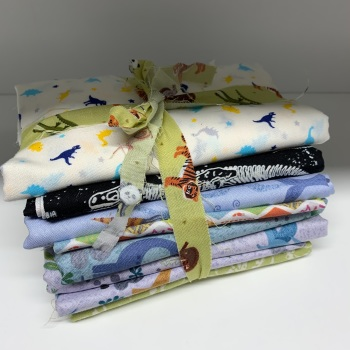 DESTASH Dinosaur Stash Starter Bundle Cotton Fabric Stash Stack