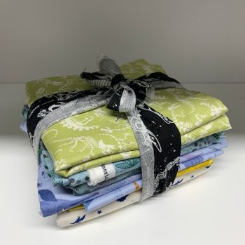 DESTASH Dinosaur Stash Starter Bundle Cotton Fabric Stash Stack