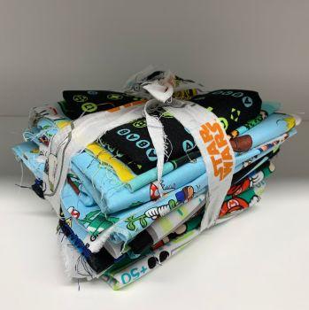 DESTASH Super Mario & Gaming Stash Starter Bundle Cotton Fabric Stash Stack
