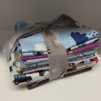 DESTASH City Sparkles Stash Starter Bundle Cotton Fabric Stash Stack